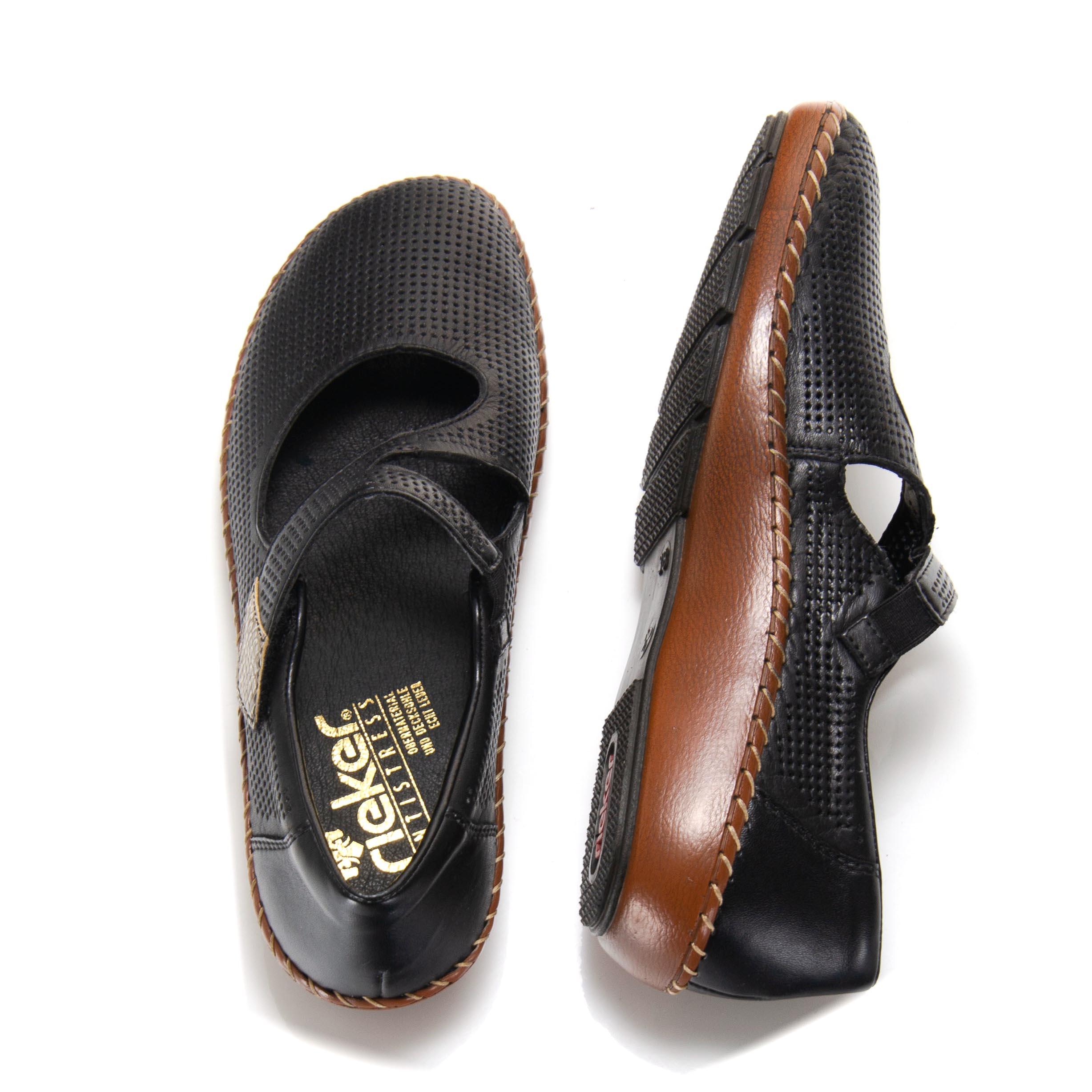 8c4d2d6f7ef detail Dámska obuv RIEKER br 44876-00 SCHWARZ ...