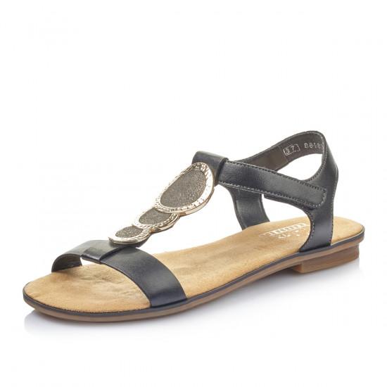 a89378038e5c detail Dámska obuv RIEKER br 64278-00 SCHWARZ KOMBI ...
