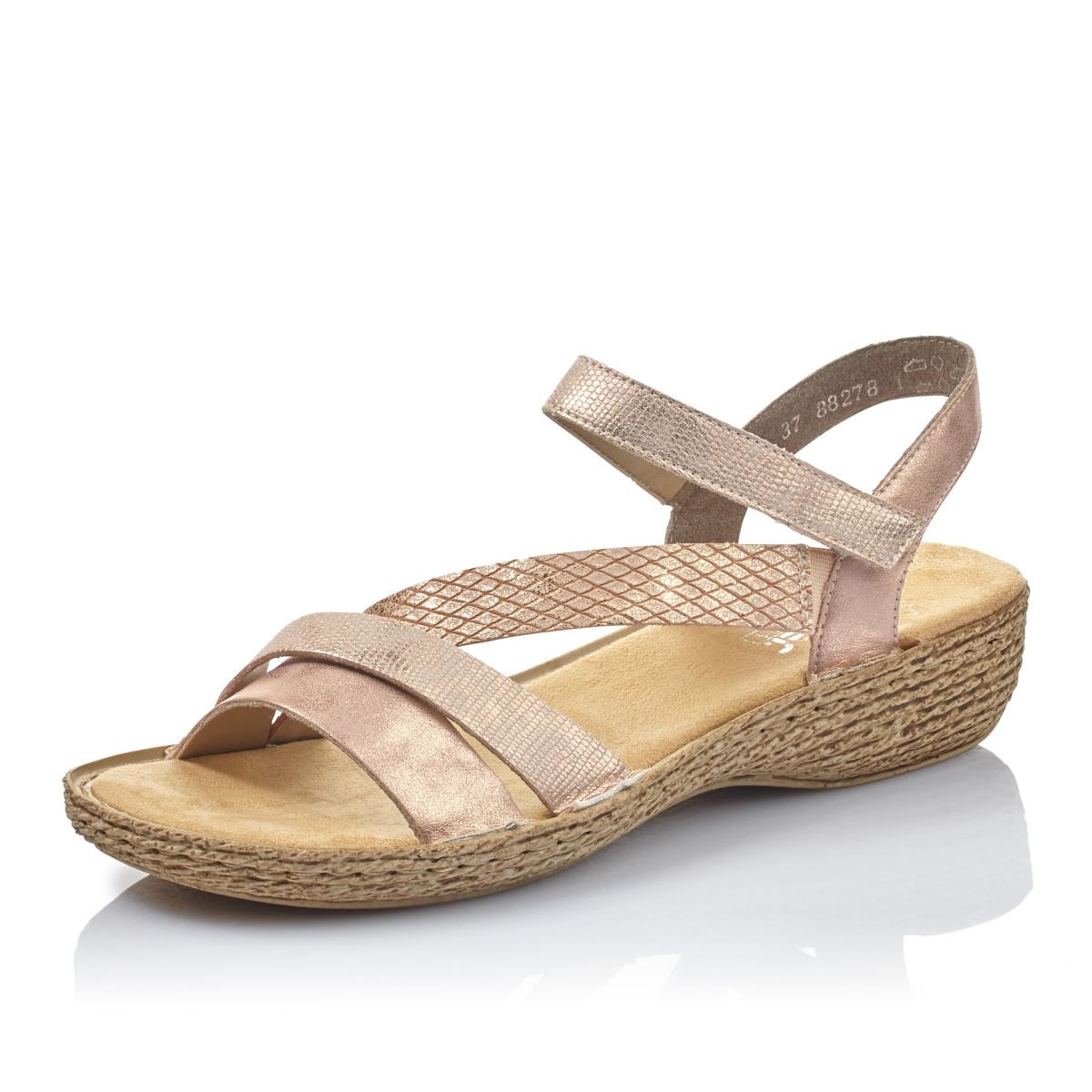 9830b0474bc4 detail Dámska obuv RIEKER br 65856-90 ROSE GOLD F S