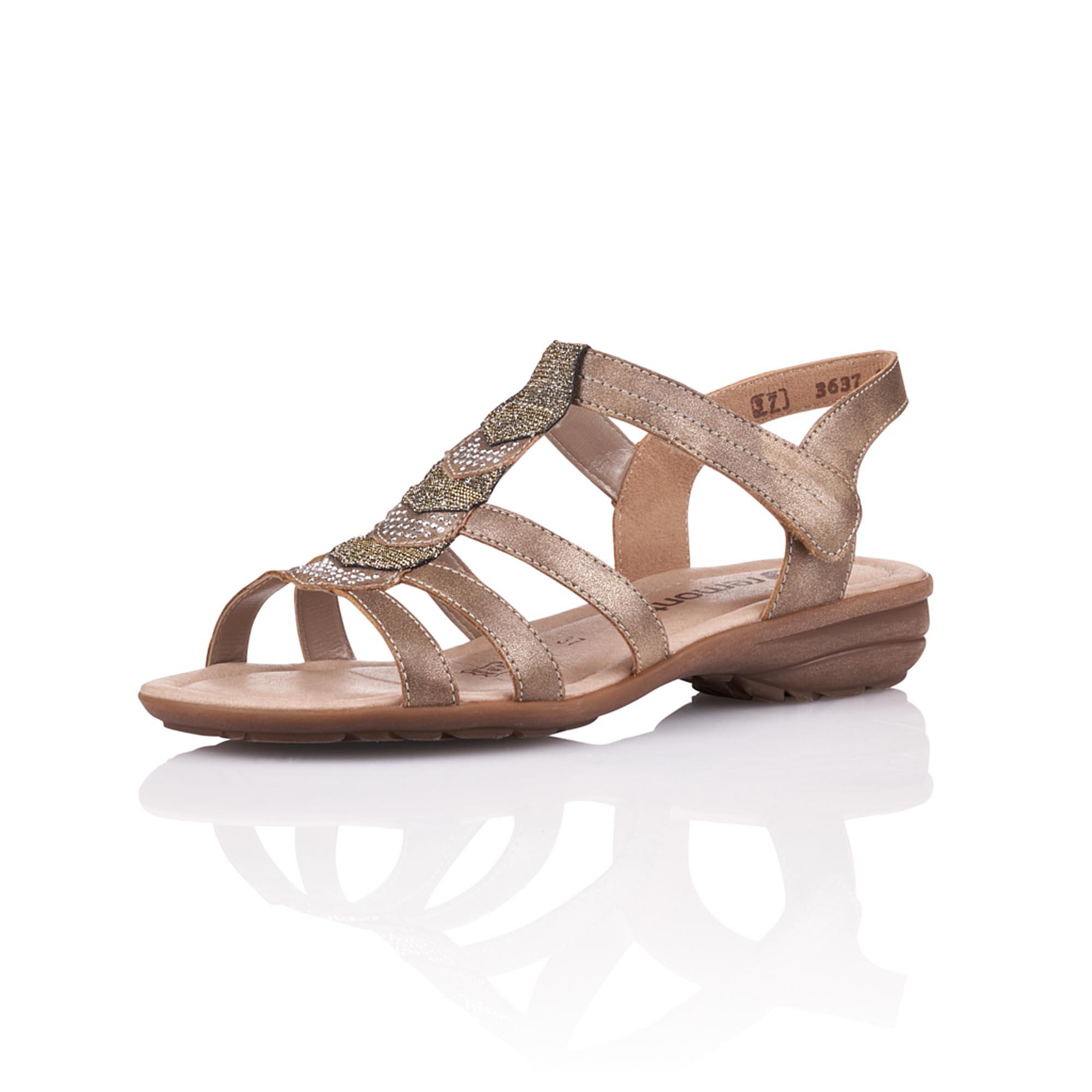 631e70f5bce4 detail Dámska obuv RIEKER - REMONTE br R3637-90 GOLD F S