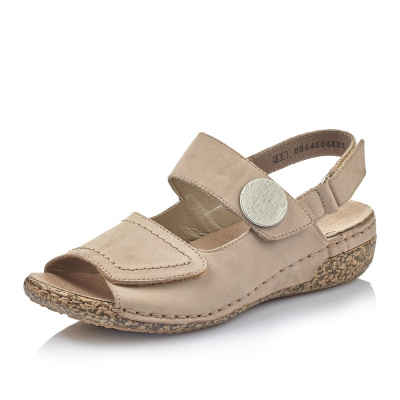 Dámska obuv RIEKER63687-64 BEIGE F S 9  2c89bfc8dd3