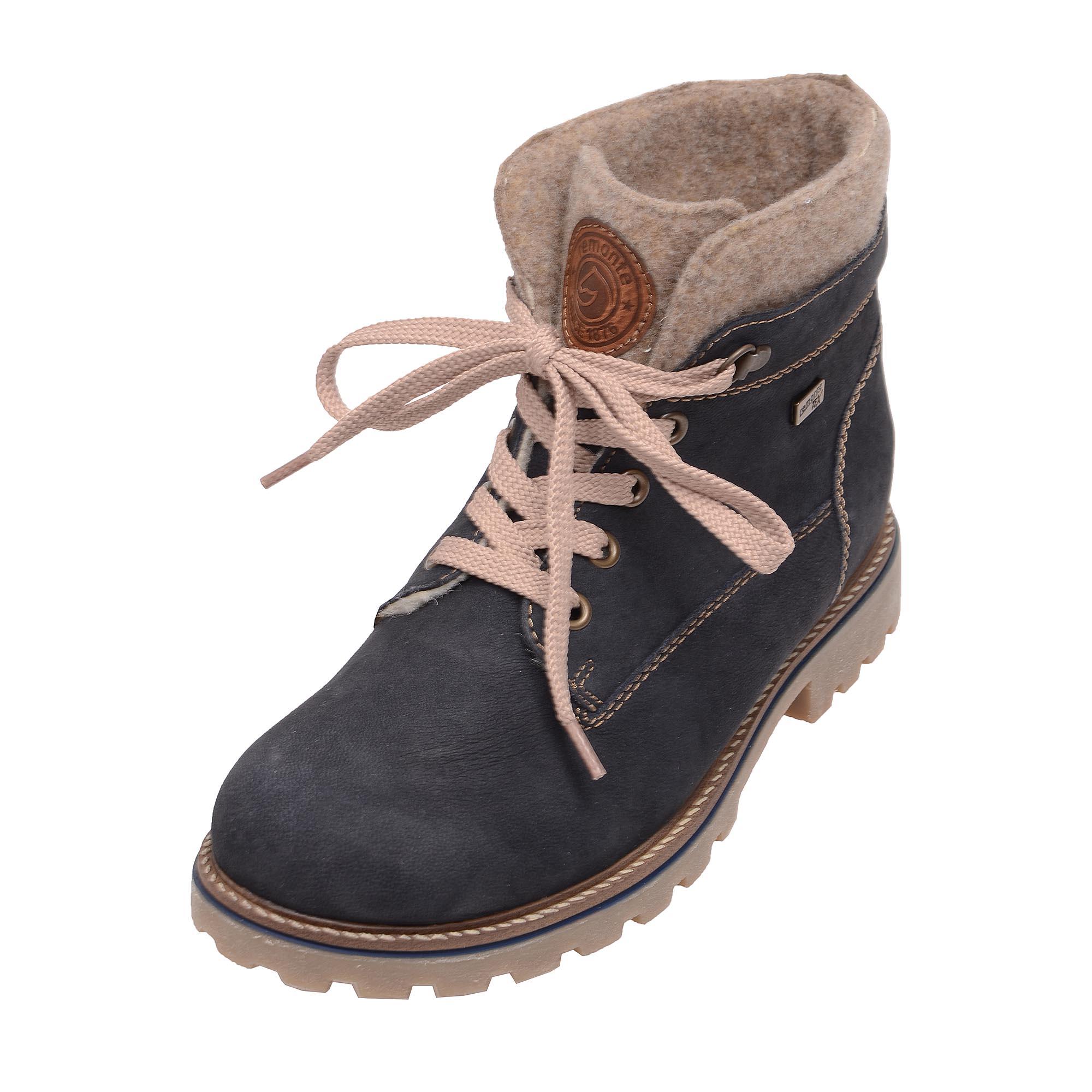 05f31b228b detail Dámska obuv RIEKER - REMONTE D7476 14 BLAU KOMBI H W 7
