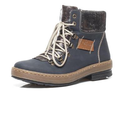 4d8a294cac Dámska obuv RIEKER Z6743 14 BLAU KOMBI H W 8