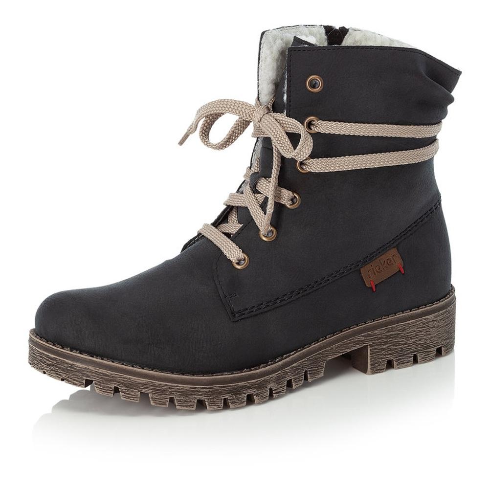 189702f168 detail Dámska obuv RIEKER 78550 14 BLAU H W 8